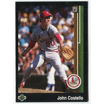 1989 Upper Deck John Costello St. Louis Cardinals Blank Back Black Border Proof