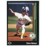 1989 Upper Deck Gene Nelson Oakland A's Blank Back Black Border Proof