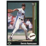 1989 Upper Deck Dennis Rasmussen San Diego Padres Blank Back Black Border Proof