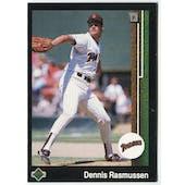 1989 Upper Deck Dennis Rasmussen San Diego Padres Blank Back Black Border Proof
