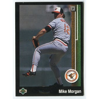 1989 Upper Deck Mike Morgan Baltimore Orioles Blank Back Black Border Proof