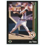 1989 Upper Deck Jay Tibbs Baltimore Orioles Blank Back Black Border Proof