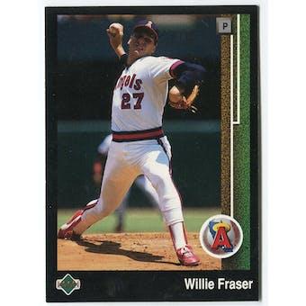 1989 Upper Deck Willie Fraser California Angels Blank Back Black Border Proof