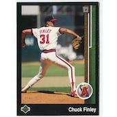 1989 Upper Deck Chuck Finley California Angels Blank Back Black Border Proof