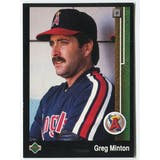 1989 Upper Deck Greg Minton California Angels Blank Back Black Border Proof