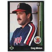 1989 Upper Deck Greg Minton California Angels Blank Back Black Border Proof