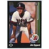 1989 Upper Deck Jim Eppard California Angels Blank Back Black Border Proof