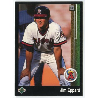 1989 Upper Deck Jim Eppard California Angels Blank Back Black Border Proof
