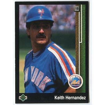 1989 Upper Deck Keith Hernandez New York Mets Blank Back Black Border Proof