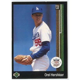 1989 Upper Deck Orel Hershiser Los Angeles Dodgers NLCS Blank Back Black Border Proof