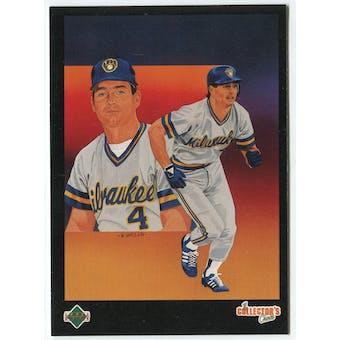 1989 Upper Deck Paul Molitor Milwaukee Brewers Blank Back Black Border Proof