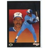 1989 Upper Deck Fred McGriff Toronto Blue Jays Blank Back Black Border Proof