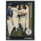 1989 Upper Deck Kirk Gibson Los Angeles Dodgers NLCS Blank Back Black Border Proof