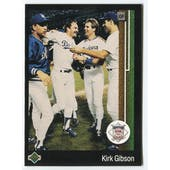 1989 Upper Deck Kirk Gibson Los Angeles Dodgers NLCS Blank Back Black Border Proof