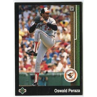 1989 Upper Deck Oswald Peraza Baltimore Orioles Blank Back Black Border Proof
