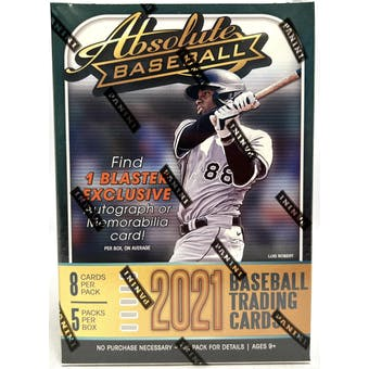2021 Panini Absolute Baseball 5-Pack Blaster Box