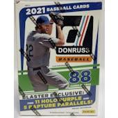 2021 Panini Donruss Baseball 8-Pack Blaster Box
