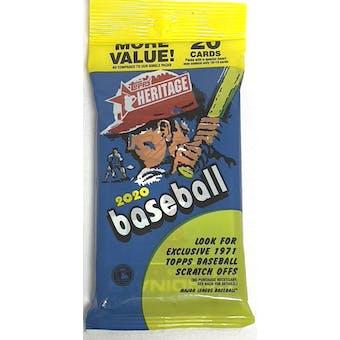 2020 Topps Heritage Baseball Jumbo Value 20-Card Pack