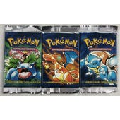 Pokemon Base Set 1st Edition Booster Pack - GERMAN 3x LOT All 3 Arts with 1 Heavy Pack