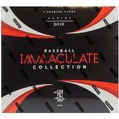 2018 Panini Immaculate Baseball Hobby Box