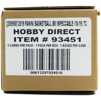 2018/19 Panini Impeccable Basketball Hobby 3-Box Case