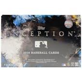 2018 Topps Inception Baseball Hobby Box
