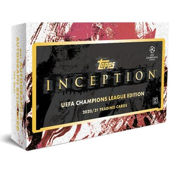 2020/21 Topps Inception UEFA Champions League Edition Soccer Hobby Box