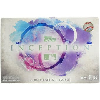 2019 Topps Inception Baseball Hobby Box