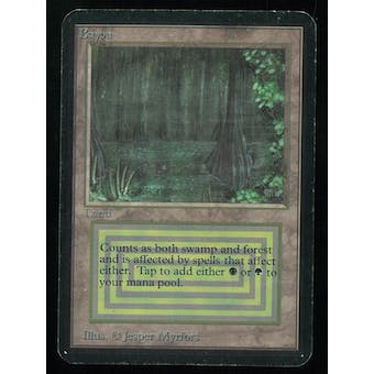 Magic the Gathering Alpha Single Bayou - MODERATE PLAY (MP) inked
