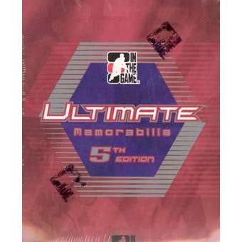 2004/05 ITG Ultimate Memorabilia 5th Edition Hockey Hobby Box