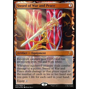 Magic the Gathering Kaladesh Inventions Single Sword of War and Peace FOIL - NEAR MINT (NM)