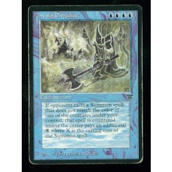 Magic the Gathering Legends Single Invoke Prejudice - HEAVY PLAY (HP)
