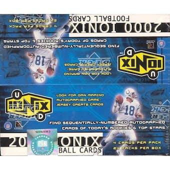 2000 Upper Deck Ionix Football Box