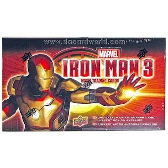 Marvel Iron Man 3 Trading Cards Hobby Box (Upper Deck 2013)
