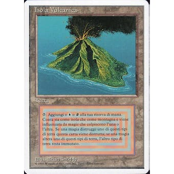 Magic the Gathering 3rd Ed (Revised) FWB ITALIAN Single Volcanic Island MODERATE PLAY (MP) Sick Deal
