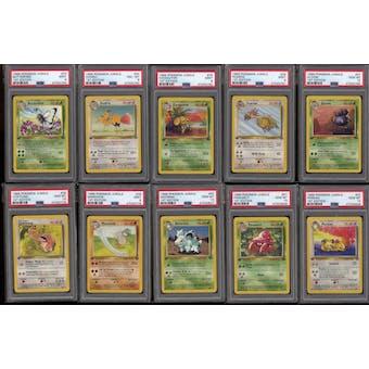 Pokemon Jungle 1st Edition Complete Common & Uncommon Set 33-64/64 PSA 9 and 10 GEM MINT