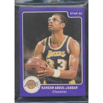1985 Star Co. Basketball Kareem Abdul-Jabbar Bagged Set