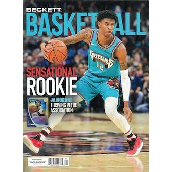 2020 Beckett Basketball Monthly Price Guide (#329 February) (JA Morant)