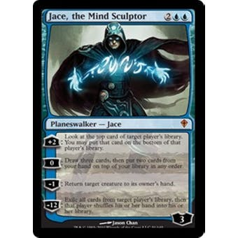 Magic the Gathering Worldwake Single Jace, the Mind Sculptor - SLIGHT PLAY (SP)