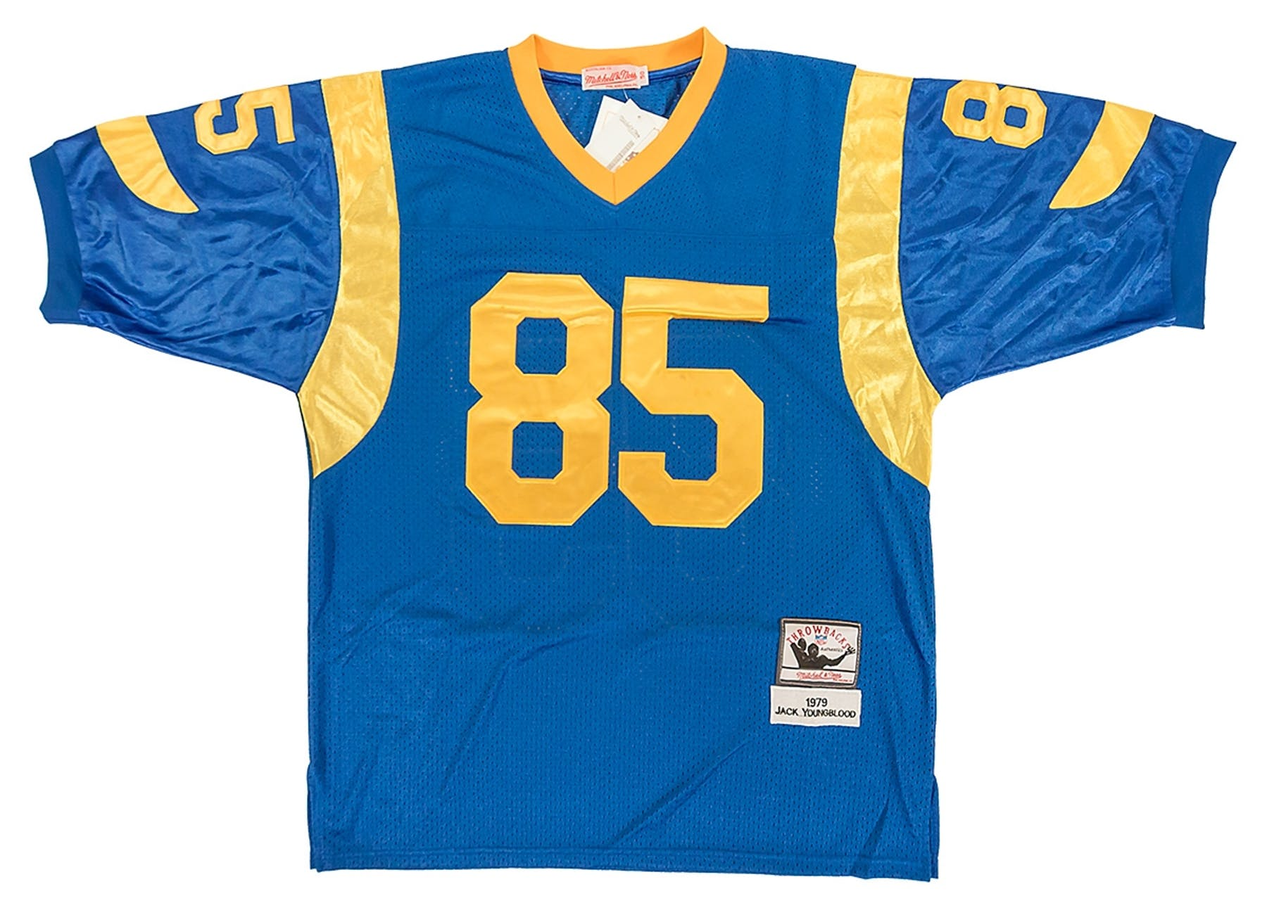 dcdfdea78 Jack Youngblood Autographed Los Angeles Rams Throwback Blue Jersey (JSA)