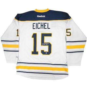 Jack Eichel #15 Autographed Buffalo Sabres Large White Hockey Jersey