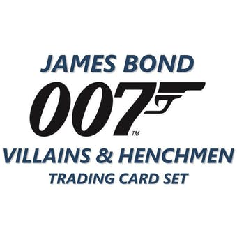 James Bond 007 Villains & Henchmen Trading Cards Box (Upper Deck 2020) (Presell)
