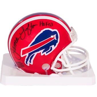 James Lofton Autographed Buffalo Bills Mini Football Helmet with HOF 03