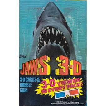 Jaws 3-D Trading Cards Wax Box (1983 Topps)