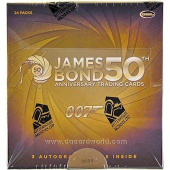 James Bond 50th Anniversary Series 1 Trading Cards Box (Rittenhouse 2012)