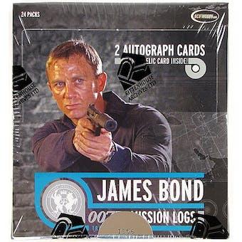 James Bond Mission Logs Trading Cards Box (Rittenhouse 2011)