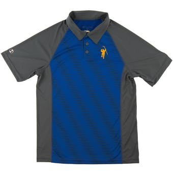 The Jack Eichel Collection Gray & Royal Torpedo Performance Polo (Adult X-Large)