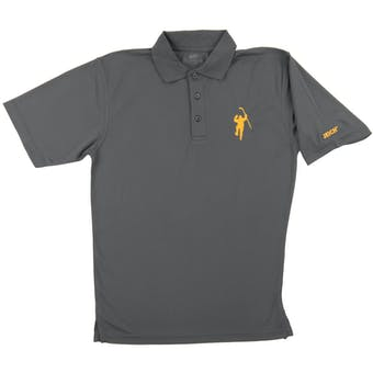 The Jack Eichel Collection Gray W/ Yellow Logo Performance Polo (Adult Large)