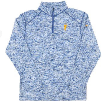 The Jack Eichel Collection Heather Royal Static 1/4 Zip Performance Long Sleeve Shirt (Adult Large)
