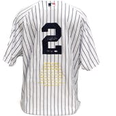 "Derek Jeter UDA ""Mr. November"" Autographed Official Yankees Pinstripe Jersey #19/27"